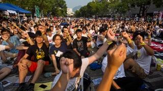 Studenten in Hongkong streiken für mehr Demokratie