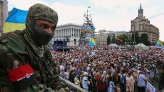 Proteste in Kiew gegen Verlängerung der Waffenruhe