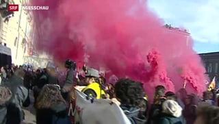 Gewalttätige Proteste gegen Sparpolitik in Italien