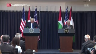 Donald Trump glaubt an Frieden zwischen Israel und Palästina