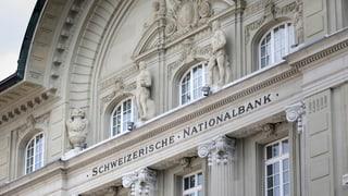 Die Schweizerische Nationalbank hält an Negativzinsen fest