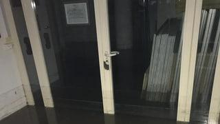 Kantonale Steuerverwaltung in Sitten unter Wasser