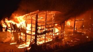 A Rueun crappan var 2000 giaglinas tar incendi