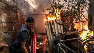 Kurz vor Waffenruhe: Kämpfe in Syrien dauern an