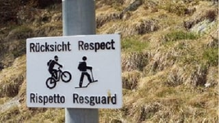 Impediments privlus per bikers sin sendas da Samedan