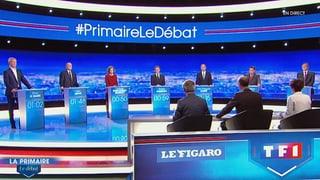 Kandidaten-Debatte in Paris: Sarkozy und Juppé dominieren
