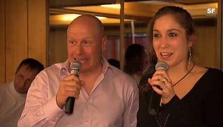 Didier Cuche versucht sich beim Karaoke-Singen