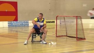 Wenn sich Spitzensportler im Rollstuhl-Unihockey messen