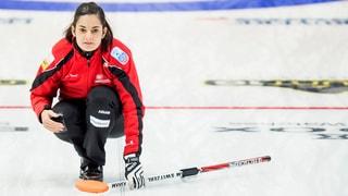 Curling: Binia Feltscher en la rolla dal matador local