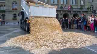 Auf dem Bundesplatz regnet es Geld