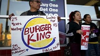 Burger King & Co: Schlecht bezahlte Angestellte wehren sich