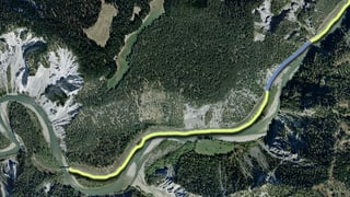Glisch verda per viandar senza interrupziun tras la Ruinaulta