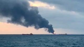 20 Tote bei Schiffsbrand vor der Krim befürchtet