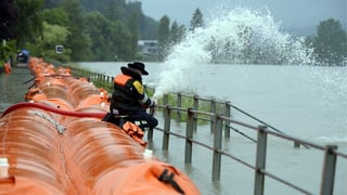 Kantone Aargau und Solothurn bereiten sich auf Hochwasser vor