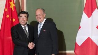 Drei Bundesräte empfangen hohen Besuch aus China