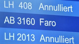 Flugbegleiter der Lufthansa streiken