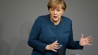 Merkel plädiert für eine stärkere EU