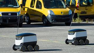 Lieferroboter, Drohnen und selbstfahrende Postautos: Die Post investiert in neue Technologien.