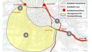 Bund und Kantone wollen Autobahnring um Basel bauen