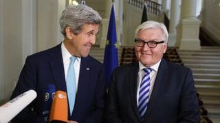 Kerry und Steinmeier betonen trotz Spitzel-Affäre Einigkeit