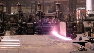 Harter Winter trifft Stahlwerk Gerlafingen