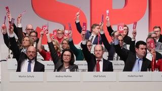 Mehrheit der SPD für Gespräche mit der Union