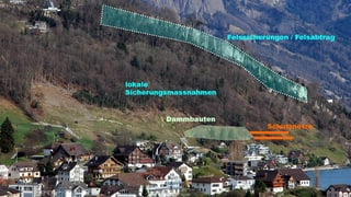 Weggis will in den Schutz vor Felsstürzen investieren