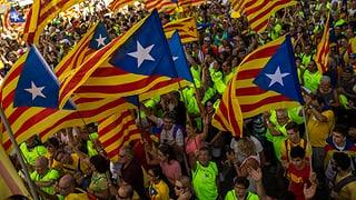 Hunderttausende fordern Unabhängigkeit Kataloniens