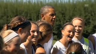 Kreisch-Alarm: Obama umjubelt wie ein Popstar