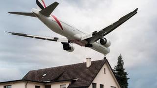 Zürich: Immer noch zu viele Menschen von Fluglärm stark betroffen