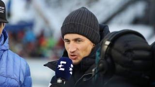 Ski fliegt knapp an TV-Experte Schmitt vorbei (Artikel enthält Video)