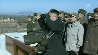 Kim Jong Un lässt aus allen Rohren feuern
