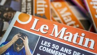 Aus für den gedruckten «Le Matin»