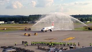 Im Juni 2015 landete eine Maschine der CSerie 100 erstmals in Zürich.