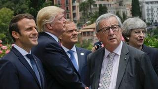 Dad Elton John fin Jean-Claude Juncker e Donald Trump