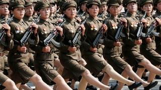 Nordkorea feiert Geburtstag im Stechschritt