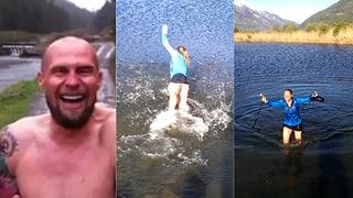 So cool wie Büchel: Fränzi Aufdenblatten springt ins kalte Wasser