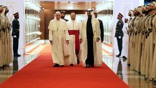 Historische Papstreise in die Emirate