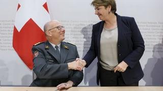 Amherd ist offen für Frau an Armee-Spitze