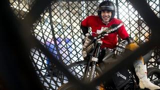 Freddy Nocks Weltrekord-Versuch in der «Todeskugel» gelungen