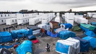 Container-Unterkünfte für Flüchtlinge in Calais