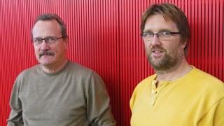 Zwei Freunde - ein Ziel: dem AKW Mühleberg den Stecker ziehen