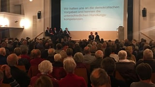 Hitzige Diskussion im Thurparksaal