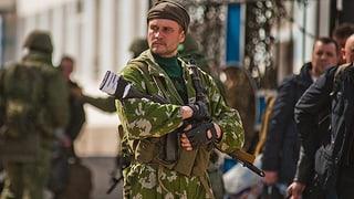Ukrainische Militärstützpunkte in russischer Hand
