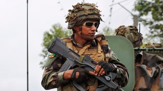 Französisches Militär beruhigt Lage in Zentralafrika