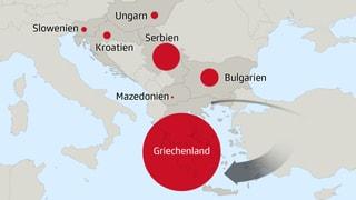 Infografik: Hier warten die Flüchtlinge