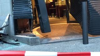 St. Gallen: Einbruch mit Auto als Rammbock
