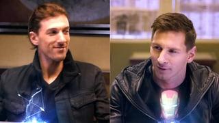Grosser Werbe-Coup: Cancellara macht mit Messi auf Superheld