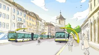 Die Elektrobusse kommen im Stadtparlament gut an