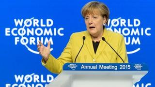 Merkel: «Die Politik muss Wachstumsimpulse setzen»